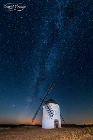 fotografía de la vía láctea realizada por david araujo